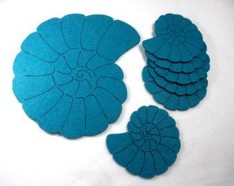 Felt Coasters, mussel, 7 piece (F25-0001XXX)