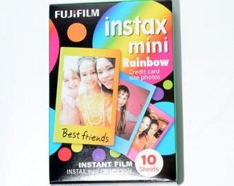 Fujifilm Instax Mini Instant Film RAINBOW edition (10 Prints) New, Unexpired, ISO 800