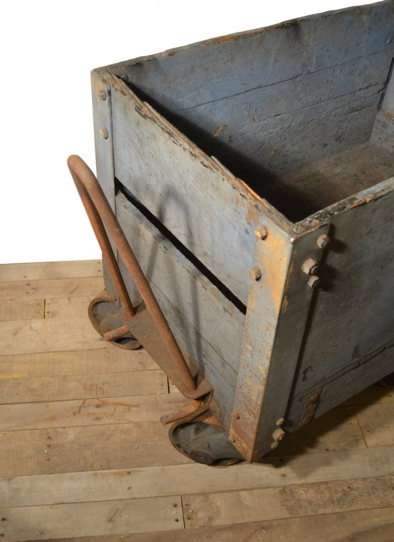 Industrial antique mining ore coal cart for sale