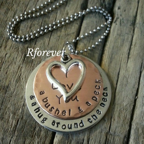 I Love You A Bushel And A Peck Necklace: A Bushel And A Peck Necklace