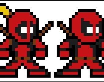 8 Bit Spider Man Ennemis Vinyle Autocollant Megaman Style