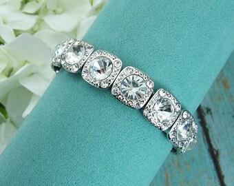 Rhinestone Bridal bracelet, wedding bracelet, rhinestone crystal bracelet, crystal bracelet, bridal jewelry, wedding accessories 210200569