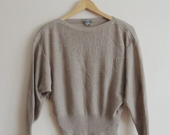 Vintage QUIMO of Denmark Beige light sweater, size 40 or 12