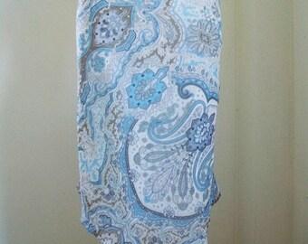 90s Michel Klein Floral Skirt - Boho Asymetric Hem Skirt