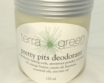 pretty pits deodorant, for her, for him, natural deodorant