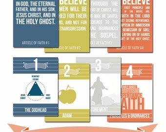 LDS Articles of Faith Posters / Handout