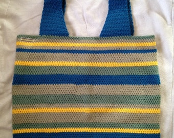 Coastal Striped Tote Bag