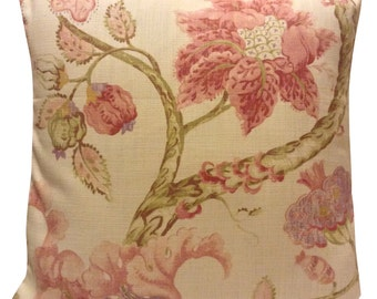 Pretty Pink Linen Cushion Cover