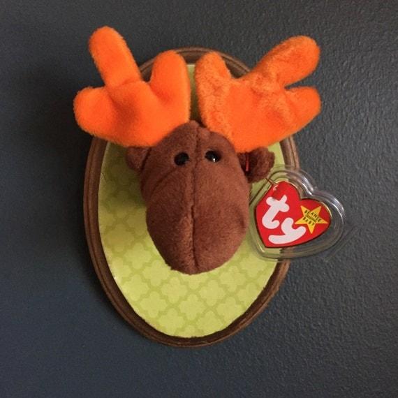 Beanie baby faux taxidermy moose trophy head - Fake stuffed moose head ...