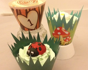 Enchanted Woods Cupcake Wrappers