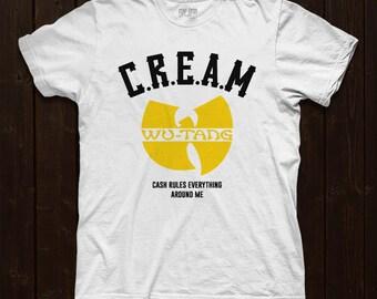 C.R.E.A.M Wu-Tang foil printed tshirt