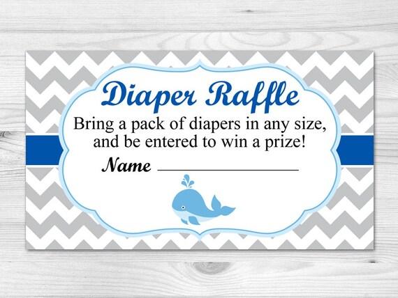 Diaper Raffle Ticket Printable Diaper Raffle Card: blue