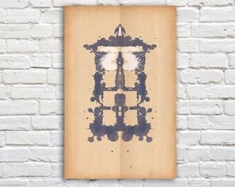 """Tardis Rorschach Poster (Doctor Who) - 11"""" x 17"""""""