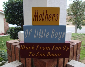 SALE SALE SALE!!! Mothers of Little Boy home decor stacker