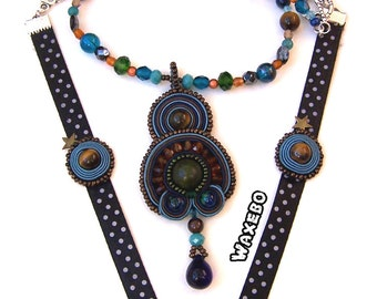 """Collection colorful. Necklace """"talis"""". Waxebo"""
