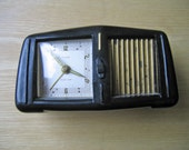 Antique Musical Clock, Florn Musical Clock, German, 1930, Musical Alarm Clock, Wind-up Clock, Vintage Clock, Collectible Clock, Timepiece