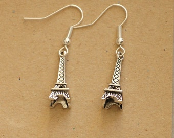 Eiffel Tower earrings, Paris earrings, charm earrings, dangle earrings