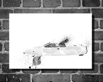 James Bond Submarine Car vehicle movie poster minimalist poster 007 art wall art home decor