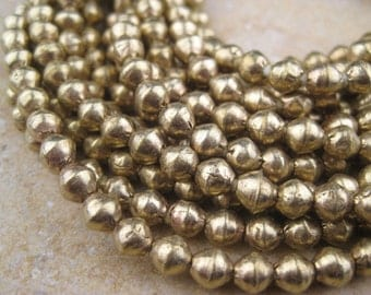 Brass Bicone Beads From the Villages of Ethiopia! African Metal Beads - Brass Spacers - Wholesale African Beads - Brass Beads 232