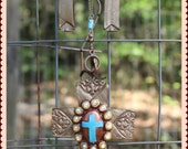 Grace Abounds Out West - Beautiful hand-made, hand-painted clay earrings