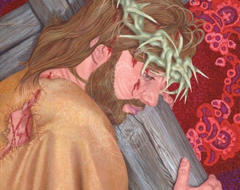 Jesus Carries His Cross - Canvas Painting Reproduction