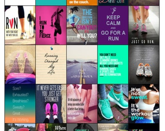 Motivational Running Quotes/Images for your Erin Condren Life Planner/Inkwell/Plum Planner/Fioflax-HARD COPY