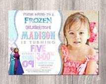 Frozen Invitation, Frozen Birthday Invitation, Frozen printable Invitation, Frozen photo invitation, Disney Frozen Printable Invitation
