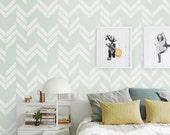 Self adhesive vinyl wallpaper, wall decal - Herringbone pattern print - 044 VENICE/ SNOW