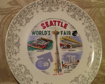 1962 World's Fair plate.