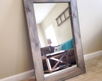 Rustic Greywash Mirror