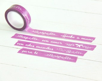"Washi Tape Little Hannah ""Morado Regalo"""