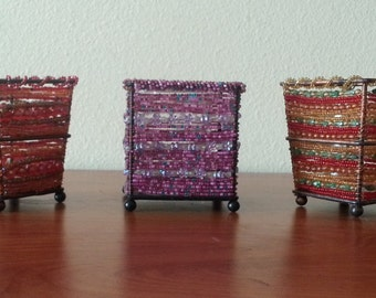 Beaded Votive Candle Holders / 7.00 Each