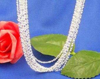 """925 Sterling Silver 1.2mm Hexagon Necklace Chain 18"""", 20"""", 22"""", 24"""", 28"""" 26"""" 30"""""""