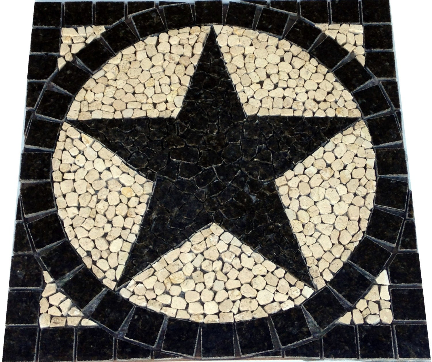 sq uba tuba granite texas star mosaic tile medallion