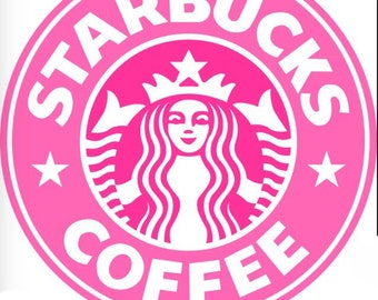 Pink Starbucks coffee shirt-If you want something that is out of stock, message me