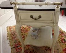 Gorgeous White Tea Cart - Excellent working order. 20% off LIMITED TIME ONLY