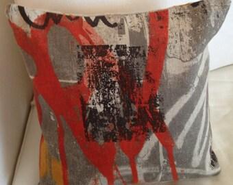 Limited Edition 18 X18  Graffitti Pillow - 100% Linen