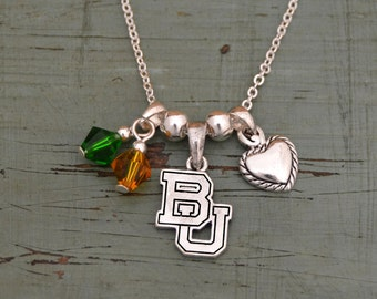 Baylor Bears Memory Necklace