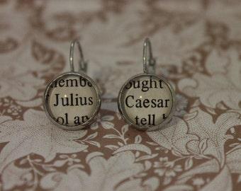 Julius Caesar Earrings ~ William Shakespeare ~ Roman ~