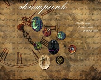 image cabochon steampunk to download