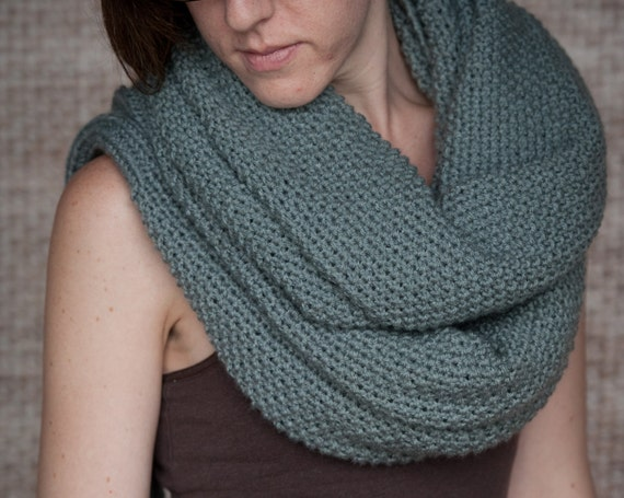 Knitting Pattern For Scarf With Sleeves : Knitting Pattern - Sleeve Scarf Sweater Wrap - Instand Download PDF from Lake...