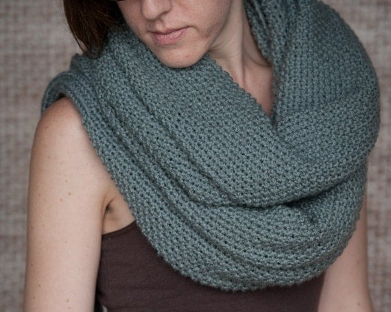 Knitting Pattern Scarf With Sleeves : Knitting Pattern - Sleeve Scarf Sweater Wrap - Instand Download PDF from Lake...