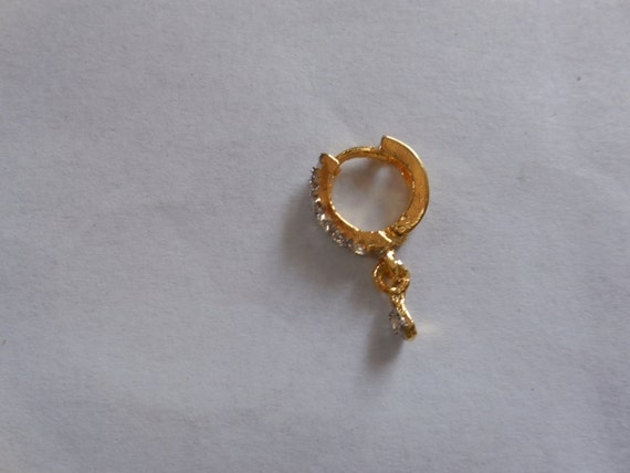 beautiful gemstone nose ring for pierced by