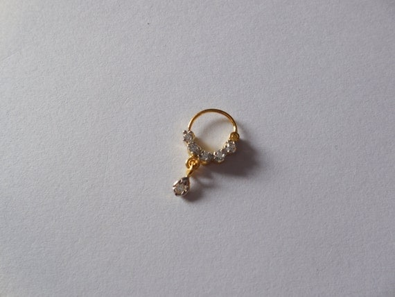 unique gemstone sated nose ring for by gemstonebeadsfinding