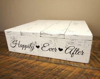 "Wedding Cake Stand - Shabby Chic 12""x12"" or 14""x14"""