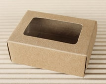 Premium Rectangle Kraft Gift Box, Window display box, Rectangle box *  20 pcs.