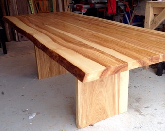 Live Edge Ash dining table - Live edge designs by Plank To Table