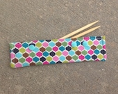 Rainbow Scales - Sock Keeper - DPN Holder