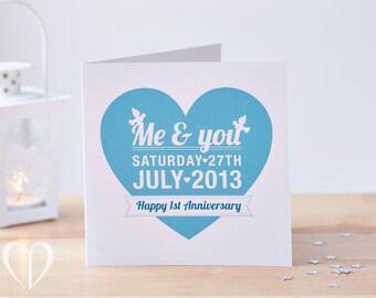 Custom anniversary card