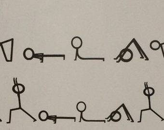 Sun Salutation A and B Stick Men